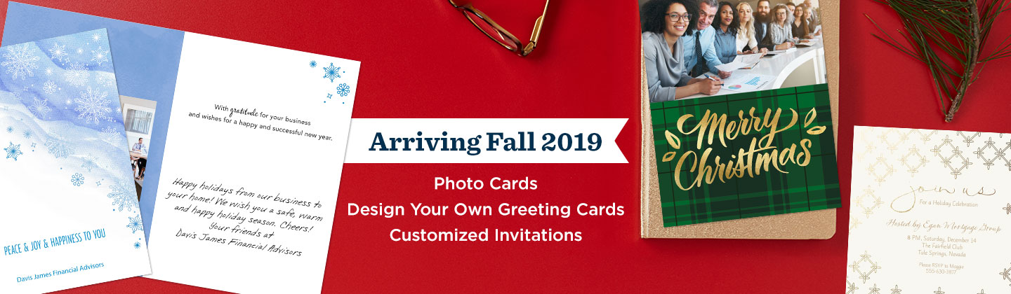 Coming Soon - new photo cards, personalized invitations and more!