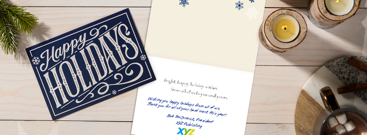 Holiday cards for employees