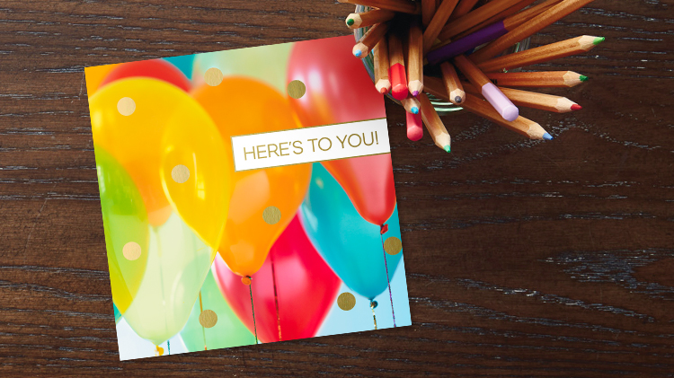 Business birthday cards for employees