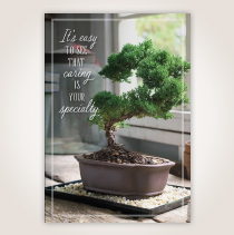 "With a picture of bonsai tree, this Nurses Week card says, ""It's Easy to See that Caring is Your Specialty."" SHOP NOW"