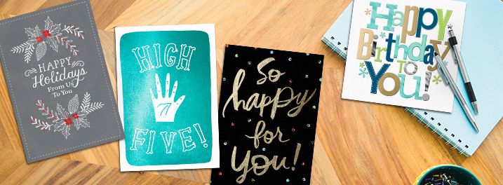 Find bulk birthday cards, holiday cards, customer appreciation, employee recognition and more—all perfect for your business!