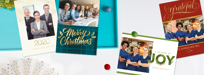 Hallmark now offers holiday photo cards that give a personal touch to your business holiday cards.