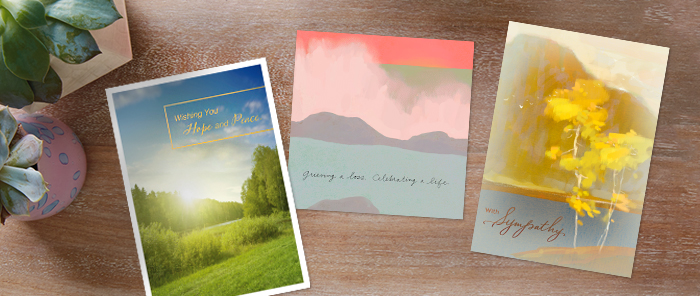 Hallmark's sympathy cards will provide you with a thoughtful, warm starting point to send your sympathies to an employee.