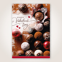 Valentine Chocolates Business Hallmark Card for Customers