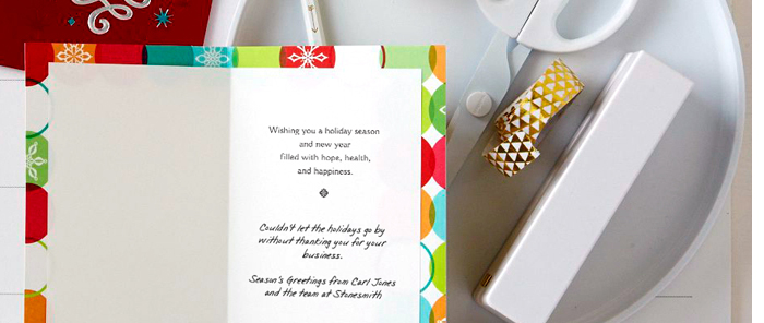 Writing holiday cards