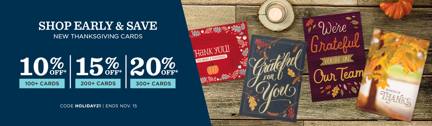Buy More. Save More on Thanksgiving Cards