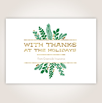 BRILLIANT HOLIDAY THANKS DESIGN YOUR OWN BUSINESS HALLMARK CARD