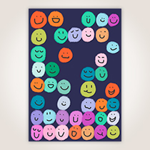 A colorful crowd of smiley faces greets you on this card that would surely bring a smile to your employees' faces. SHOP NOW