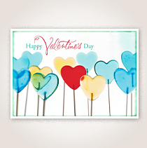 Valentine Candies Business Hallmark Card for Customers