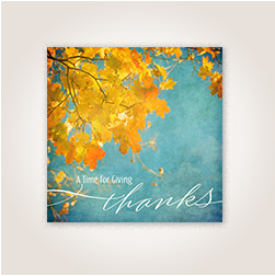 Thanksgiving fall leaves business Hallmark card.