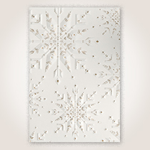 Snowflake Impressions Premium Holiday Hallmark Card for Business