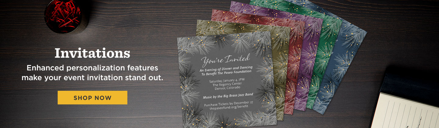 Personalize your company holiday invitation - Shop Now!