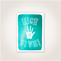 The casual tone and illustration offset by brilliant turquoise foil in this design make it ideal for a variety of congrats.