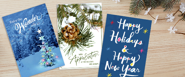 You'll find a wide range of holiday business greeting cards at Hallmark that will your company's style and sending occasion.