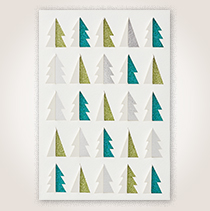 Sparkly Forest Premium Holiday Hallmark Card for Business