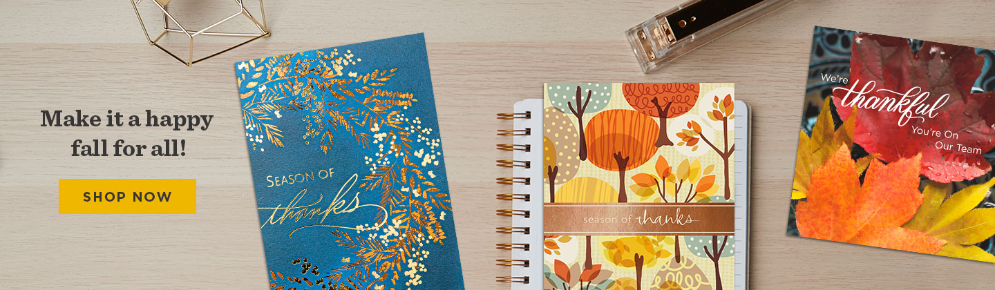 Shop Thanksgiving cards for customers and employees