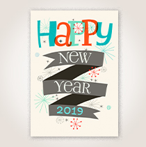 Happy New Year cards for businesses.