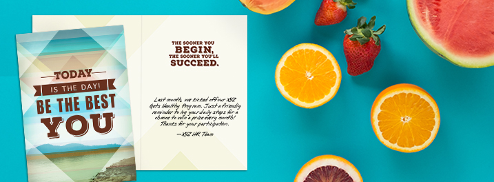 Encourage wellness through Hallmark cards featuring inspiring photography and a place for personalization.