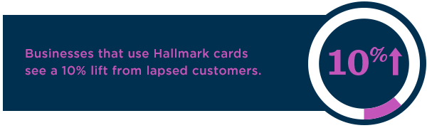 Win back lapsed customers using Hallmark cards—businesses that do it see a 10% lift.