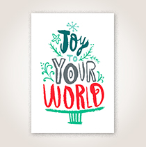 Joy to Your World Holiday Business Hallmark Card for Millennial Customers and Employees