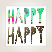 This Studio Ink card is a great way to say happy, happy (like the cover does) birthday, birthday (inside) to customers.