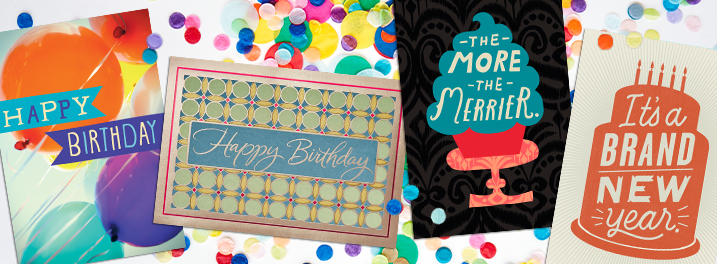 From casual to classic, these assorted birthday cards offer something for every employee or customer.