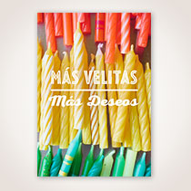 Spanish Birthday Card - Mas Velitas
