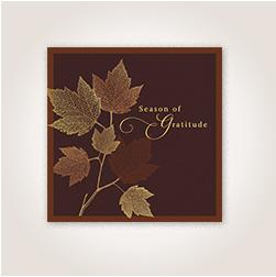 Filigree leaves Thanksgiving card from Hallmark.