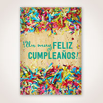 Spanish Birthday Card - Celebración de Cumpleaños More Views  Celebración de Cumpleaños Celebración de Cumpleaños Celebración de Cumpleaños