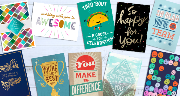 Use employee appreciation cards, like these Hallmark cards, to tell your employees that you see how hard their jobs can be.