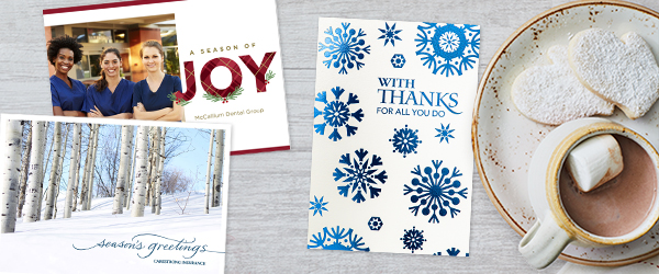 Our holiday cards for businesses include a variety of price points, so you're sure to find one to fit your budget.