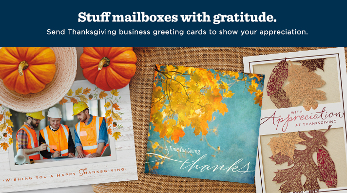 Stuff mailboxes with gratitude this Thanksgiving.