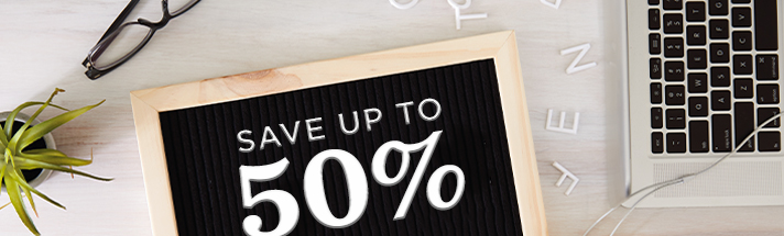 Save up to 50% off sale cards